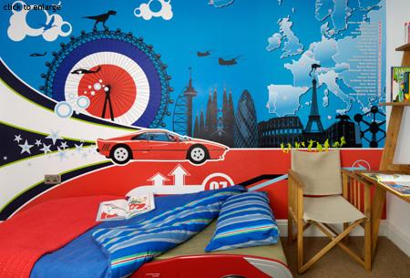 childrens wallpaper murals interior design by funky little